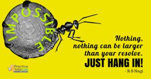 Just hang in